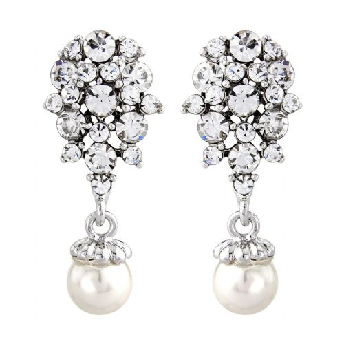 28fded171 Evie Vintage Pearl Drop Bridal Earrings, Pearl Earrings .